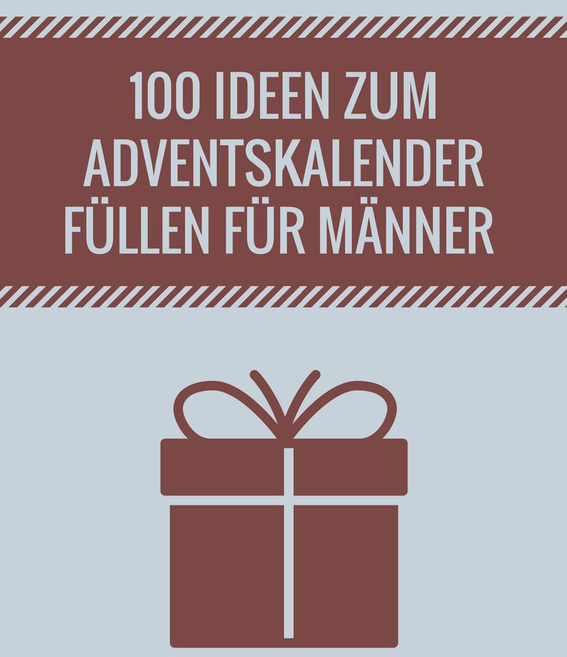Hervorragend Adventskalender für Männer füllen - die besten Ideen DA42