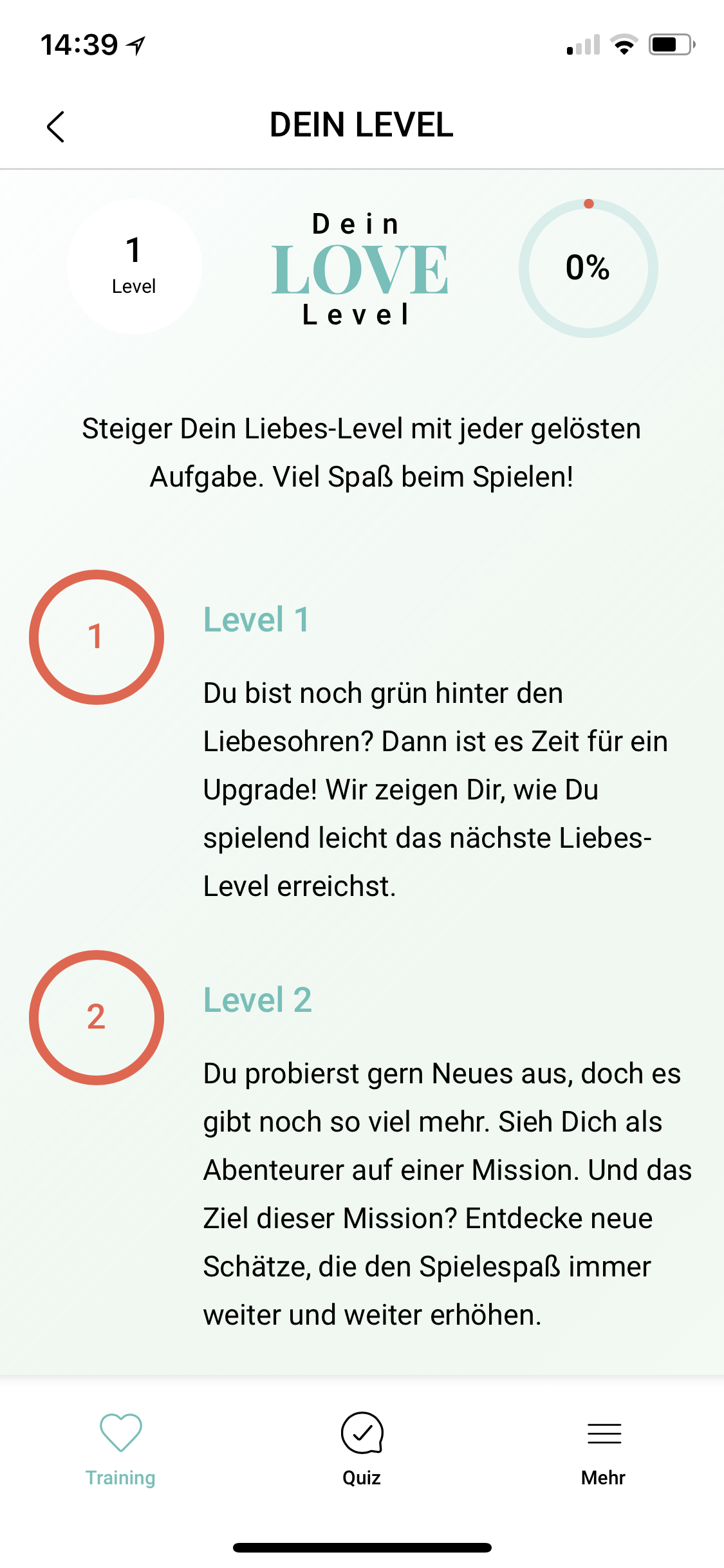 Amorelie Adventskalender App Love Level 1-2