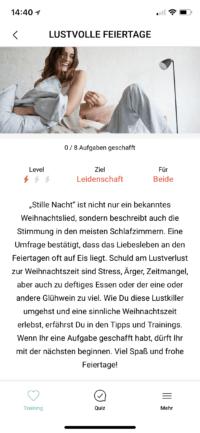 Amorelie Adventskalender App Quiz Detail