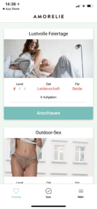Amorelie Adventskalender App Love Trainer